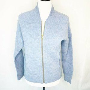 J. Crew dusty blue merino wool bomber jacket